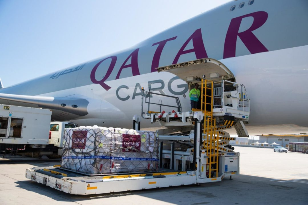 Qatar Airways Cargo donates freight shipments