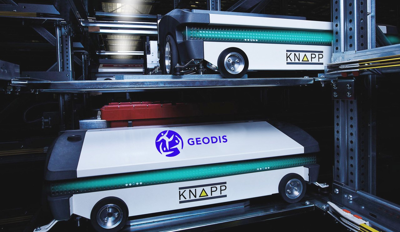 Geodis all in one automatic storage and picking system, knapp osr shuttle%e2%84%a2 evo.