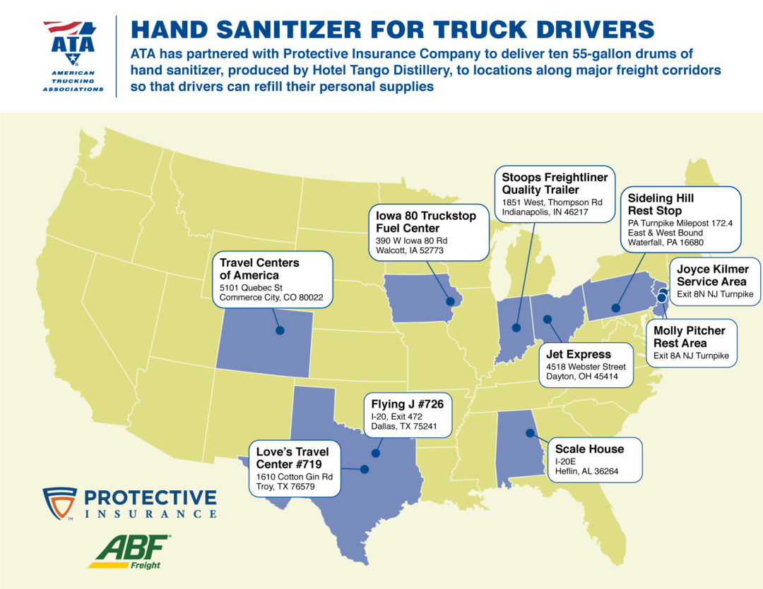 ATA: Hand sanitizer for truck drivers