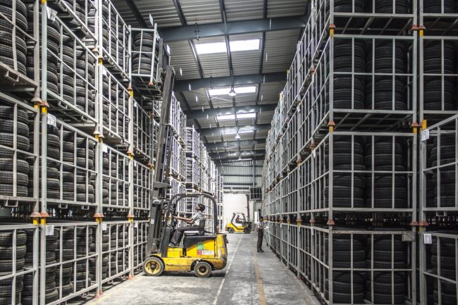 warehouse forklift workers