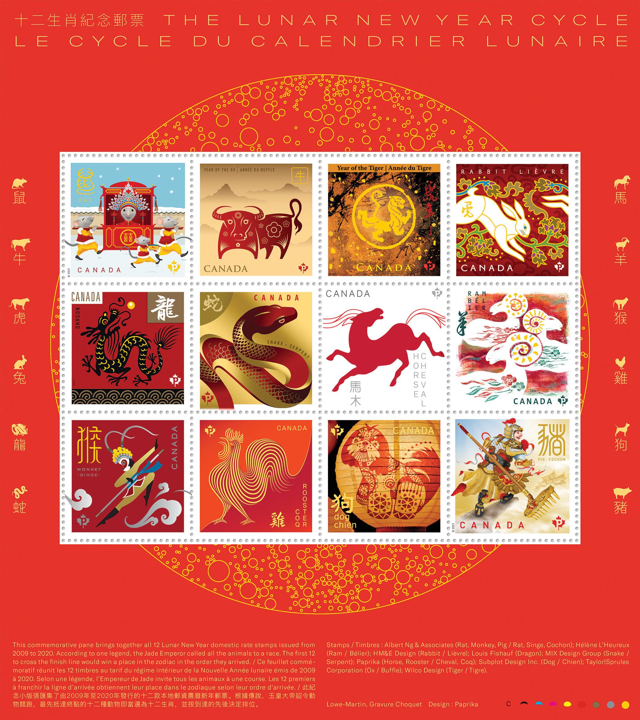Lunar stamps 1