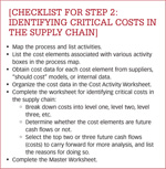[Checklist for Step 2: Identifying critical costs in the supply chain]