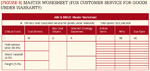 [Figure 8] Master worksheet (for identifying critical costs of customer service for goods under warranty)
