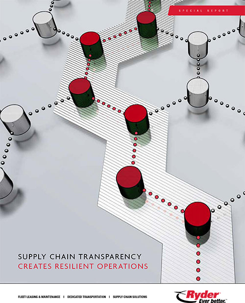 Ryder special report supply chain transparency creates resilient operations cover