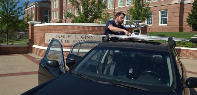 Auburn University's autonomous vehicle research facility