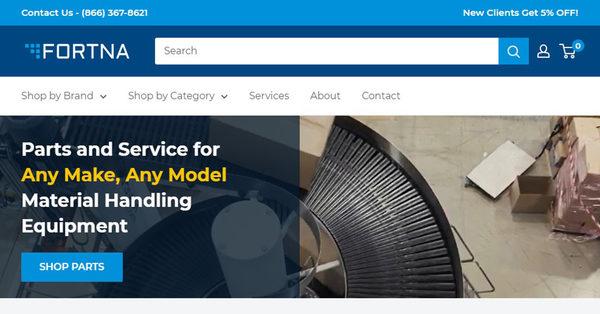 Introducing Fortnaparts.com, a Premier MHE Parts and Service eCommerce Website