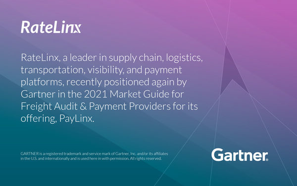 RateLinx Named in the 2021 Gartner Market Guide for Freight Audit and Payment Providers