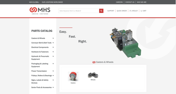 MHS introduces online parts ordering