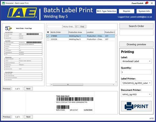NiceLabel's Label Cloud Streamlines IAE's Label Production